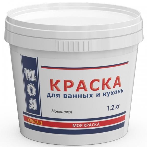 Моющаяся краска для кухонь и ванных комнат (белый) 1,2 кг