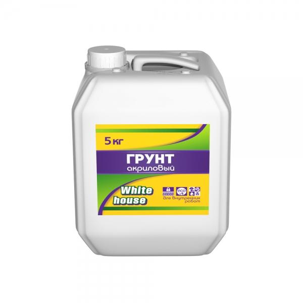 Акриловая грунтовка для внутренних работ глубокопроникающая (белый) 5 кг