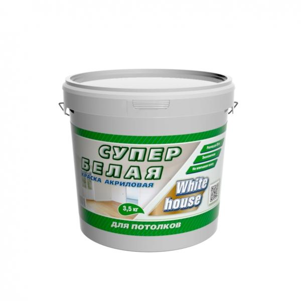 Краска для потолков супербелая (белый) 3,5 кг